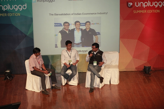 Ashish, Mukesh and Sachin, discussing the story of Flipkart's Myntra acquisition